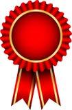 Insigne rouge Images libres de droits