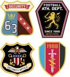 Insigne royal classique d'emblème Images libres de droits