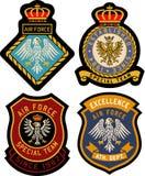 Insigne royal classique d'emblème Image libre de droits
