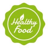 Insigne sain de nourriture de bouton de Vegan Bannière du vecteur Eps10 illustration stock