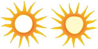 insigne saisonnier de vecteur d'achats de conception de signe d'offre du soleil d'affaires plates de label Photographie stock libre de droits