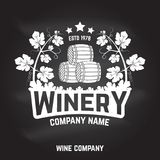 Insigne, signe ou label d'établissement vinicole Illustration de vecteur illustration stock