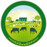 Insigne vert d'agriculture illustration stock