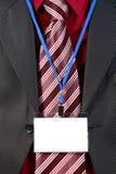 Insigne vide d'identification de carte Images libres de droits