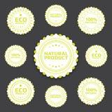Insignes écologiques Photo stock