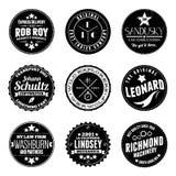 Insignes circulaires Photos libres de droits