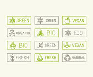 Insignes d'écologie de vecteur Photos stock