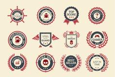 Insignes d'accomplissement illustration de vecteur