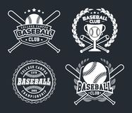Insignes de base-ball et labels, sport Logo Design illustration stock