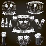 Insignes de bière, bar, barre Images libres de droits
