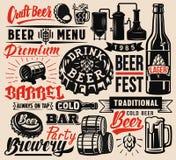 Insignes de bière de vecteur illustration libre de droits