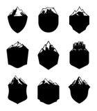 Insignes de blanc de montagne de vecteur Photos libres de droits