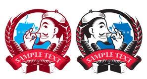 Insignes de boulangerie Illustration Libre de Droits