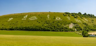 Insignes de Fovant près de Salisbury, WILTSHIRE, Angleterre image libre de droits