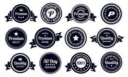 Insignes de garantie de qualité de vintage Photo libre de droits