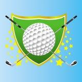 Insignes de golf Photographie stock