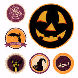 Insignes de Halloween Photographie stock