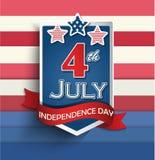 Insignes de Jour de la Déclaration d'Indépendance Images libres de droits