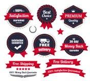 Insignes de la meilleure qualité classiques de commerce électronique de qualité Image stock