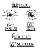 Insignes de photographie Photographie stock