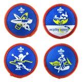 Insignes de scout réglés Photos libres de droits