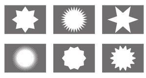 Insignes de vecteur de rayon de soleil réglés, étoiles photo libre de droits