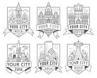 Insignes 1 de ville Images stock