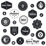 Insignes de voyage dans l'espace Photos stock