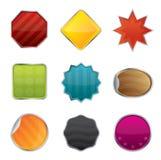 Insignes et étiquettes de site Web de vecteur Image libre de droits