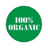 Insignes et autocollants organiques de 100% illustration stock
