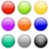 Insignes et emblèmes lustrés de vecteur Photos stock