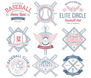 Insignes et icônes de base-ball image libre de droits