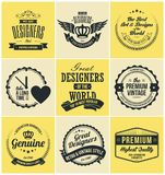 Insignes et labels de Logotype dans le rétro style Illustration Libre de Droits