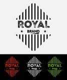Insignes grunges de logos de vintage Photographie stock