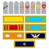 Insignes la Géorgie d'armée de forces armées Photographie stock libre de droits