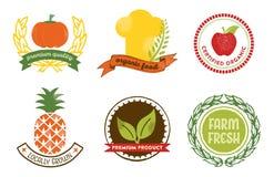 Insignes naturels de nourriture Photos libres de droits