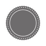 Insignes ronds de label Image stock