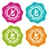 Insignes sans alcool Vecteur Eps10 illustration libre de droits