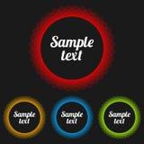 Insignes transparents de vecteur réglés Images stock