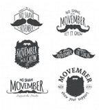 Insignes voor Geen Scheerbeurt November Stock Afbeeldingen