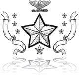 Insignia армии США с венком иллюстрация вектора