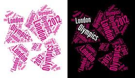 Insignia 2012 de las Olimpiadas de Londres Imágenes de archivo libres de regalías