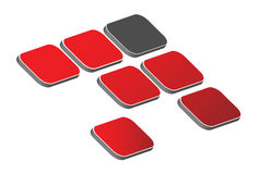 insignia 3D Imagen de archivo