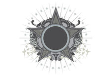 Insignia. Star shaped   .  Blank so you can add your own images. Vector illustration Stock Photo