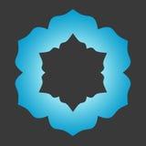 Insignia abstracta azul Foto de archivo libre de regalías