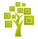 Insignia abstracta del árbol - vector stock de ilustración