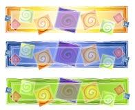 Insignia artística abstracta de los espirales ilustración del vector