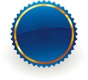 Insignia azul stock de ilustración