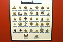 Insignia badges British Army at the Museum Royalty Free Stock Images