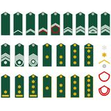 Insignia Belgian Army Stock Photography